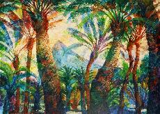 Paintings - Palm Trees, Gibraltar